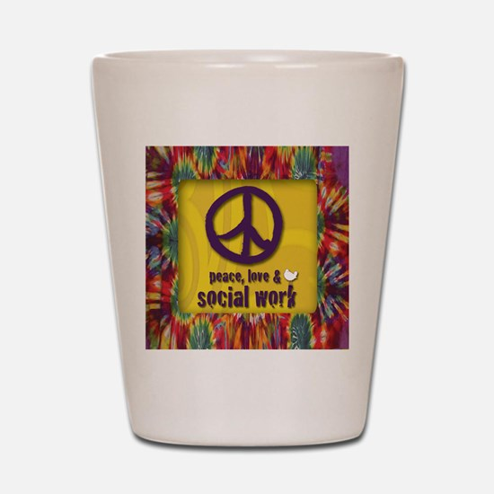 3-PeaceLogo Shot Glass