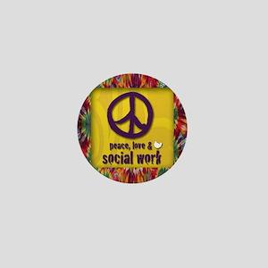 3-PeaceLogo Mini Button