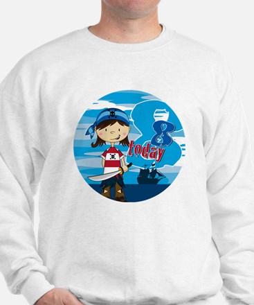 pirate girl badge 8 Sweatshirt