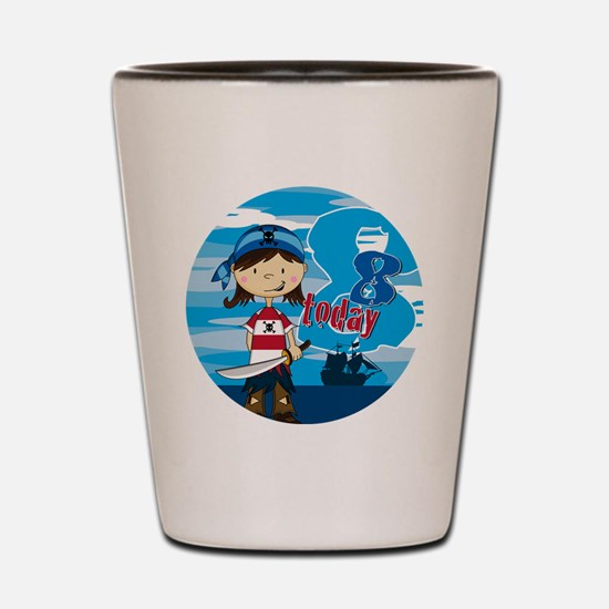 pirate girl badge 8 Shot Glass