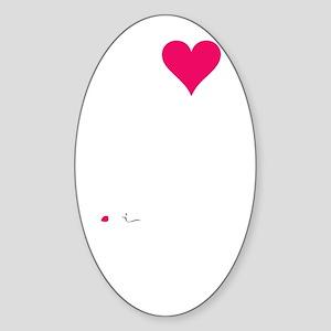 GUINEAPIGLOVEdark Sticker (Oval)