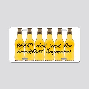 Beer Breakfast Aluminum License Plate