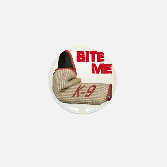 BITE ME - Certified K9 Decoy (dark) Mini Button