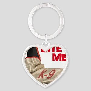 BITE ME - Certified K9 Decoy (dark) Heart Keychain