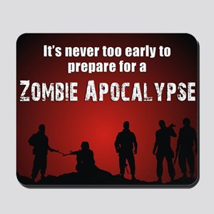 Zombie Apocalypse Recruiting Mousepad