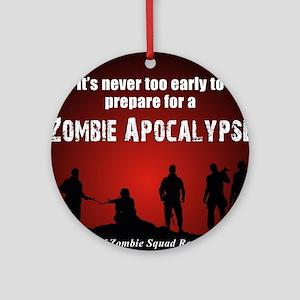 Zombie Apocalypse Recruiting Round Ornament