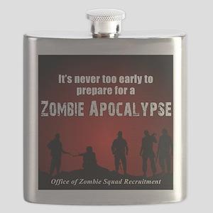Zombie Apocalypse Recruiting Flask