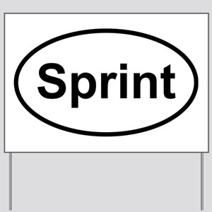 New Sprint Oval logo Yard Sign