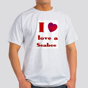I love a seabee Ash Grey T-Shirt
