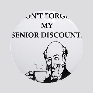 funny senior citizen discount joke Ornament (Round