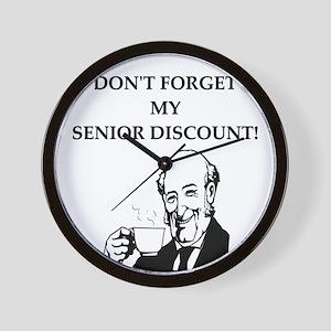 funny senior citizen discount joke Wall Clock