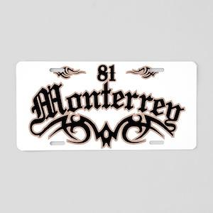 Monterrey 81 Aluminum License Plate