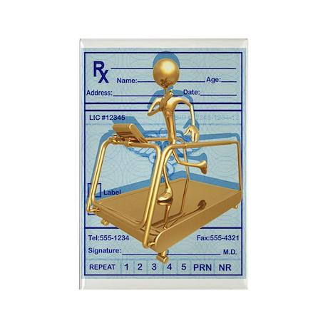 Prescription Treadmill Runner Rectangle Magnet (10