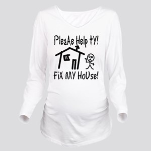 please_help_ty Long Sleeve Maternity T-Shirt