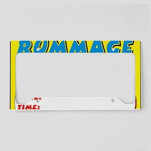 rummage sale dt License Plate Holder