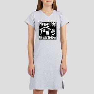 please_help_fix_my_house_invert Women's Nightshirt