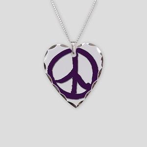 PeaceSignTshirtLARGE Necklace Heart Charm