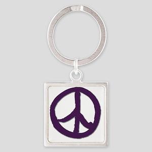 PeaceSignTshirtLARGE Square Keychain