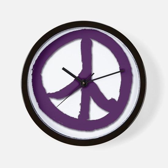 PeaceSignTshirtLARGE Wall Clock