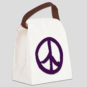 PeaceSignTshirtLARGE Canvas Lunch Bag