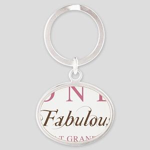FabulousGreatGrandma Oval Keychain
