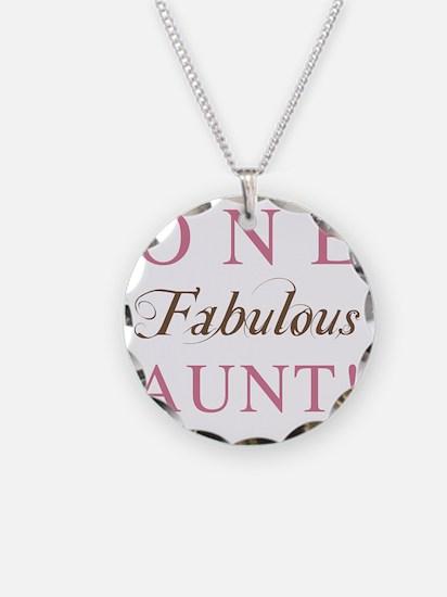 FabulousAunt Necklace Circle Charm