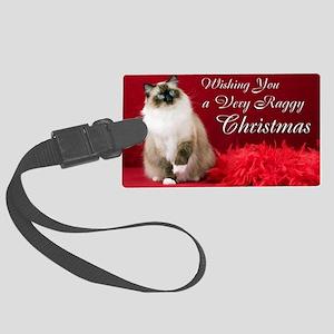 Maddie Christmas Card Large Luggage Tag