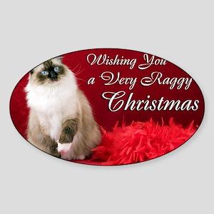 Maddie Christmas Card Sticker (Oval)