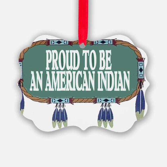 proud indian.2.gif Ornament