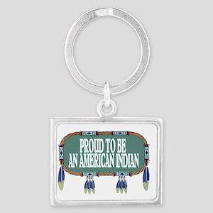 proud indian.2 Landscape Keychain