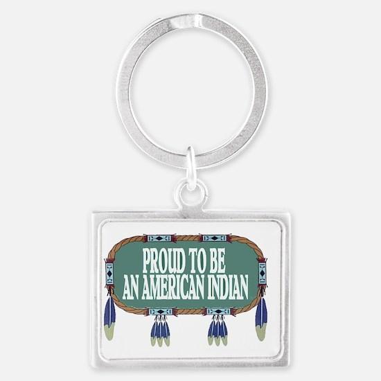 proud indian.2.gif Landscape Keychain