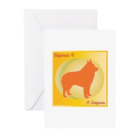 Schipperke Happiness Greeting Cards (Pk of 10)