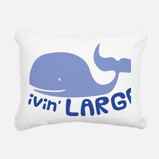 Livin Large Whale Rectangular Canvas Pillow