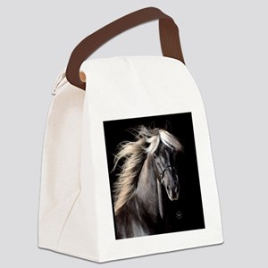 choco_horse_rnd Canvas Lunch Bag