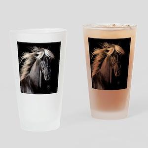 choco_horse_rnd Drinking Glass