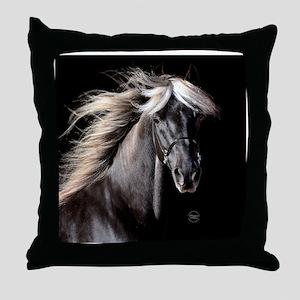 choco_horse_rnd Throw Pillow