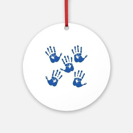 handprintBack Round Ornament
