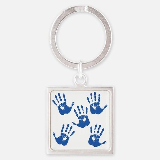 handprintBack Square Keychain
