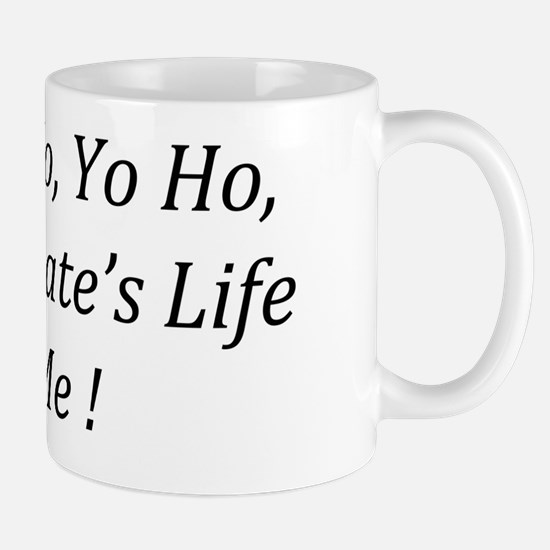 2-Text flat Mug
