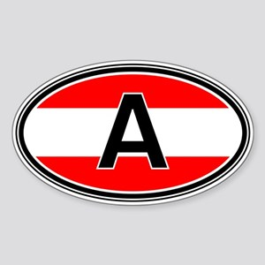 Austria Euro Oval Sticker