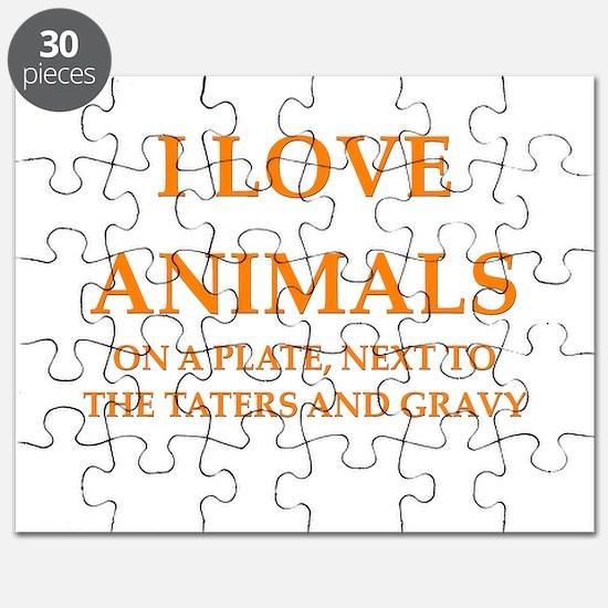 funny animals mashed potatoes gravy food joke Puzz