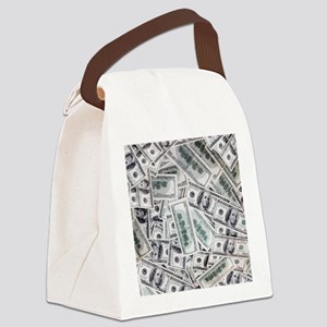 Money - Hundred Dollar Bills Canvas Lunch Bag