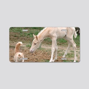 palomino_friends_smposter Aluminum License Plate