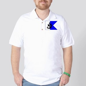 Mermaid Diver Alpha Flag Golf Shirt