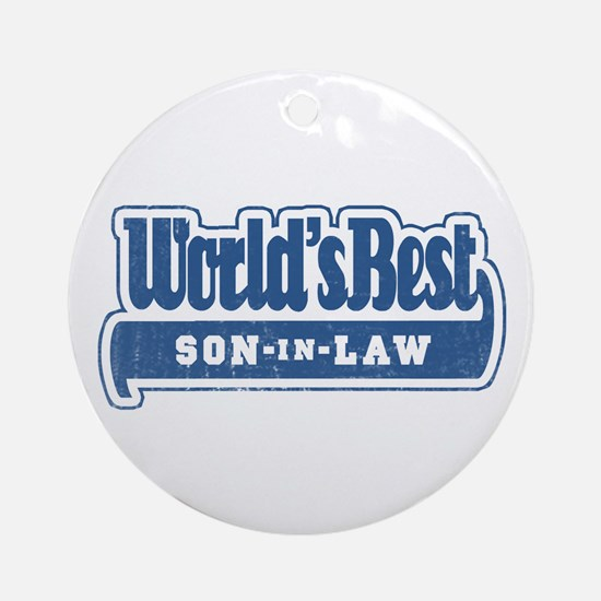 """World's Best Son-in-Law"" Ornament (Round)"