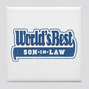 """World's Best Son-in-Law"" Tile Coaster"