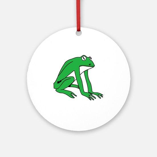 u124-frog Round Ornament