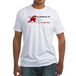 Red Shirt Society Fitted T-Shirt