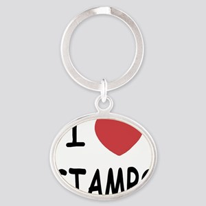 STAMPS Oval Keychain