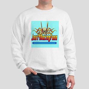 ThrowpillowFlameBlue Sweatshirt